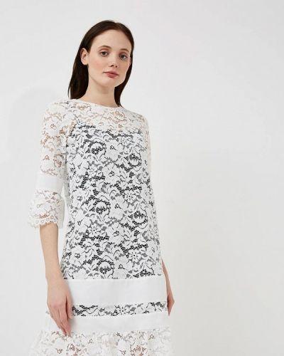 Белое платье прямое Twin-set Simona Barbieri