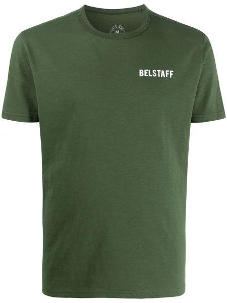 Koszula krótkie z krótkim rękawem prosto z nadrukiem Belstaff