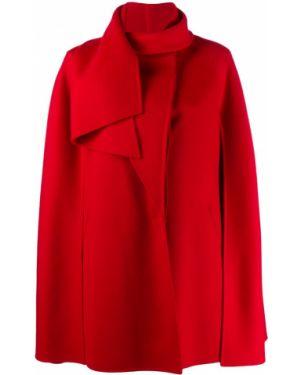 Peleryna z draperią wełniany Valentino