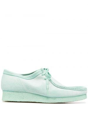 Зеленые замшевые туфли квадратные Clarks Originals
