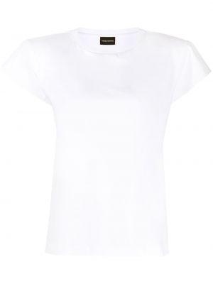 Хлопковая с рукавами белая футболка Magda Butrym