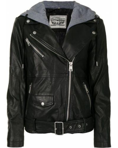 Черная кожаная куртка на молнии Levi's®