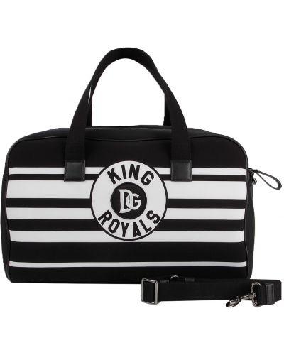 Хлопковая черная сумка Dolce & Gabbana