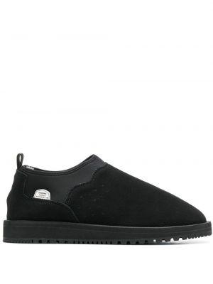 Кожаные ботинки - черные Suicoke