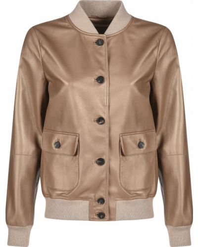 Кожаная куртка - коричневая Peserico