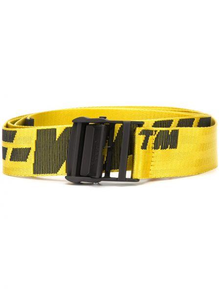 Pasek czarny żółty Off-white