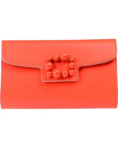 Клатч красный оранжевый Casadei