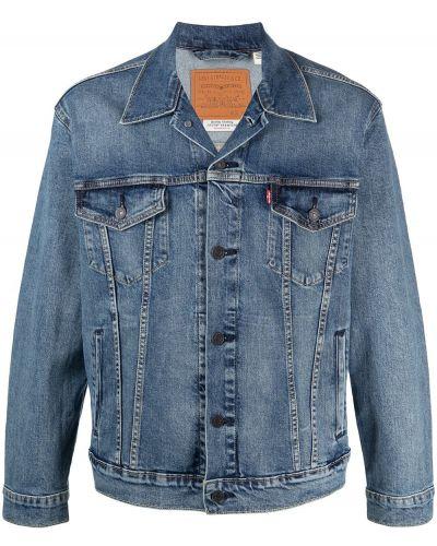 Ватная синяя джинсовая куртка с воротником Levi's®