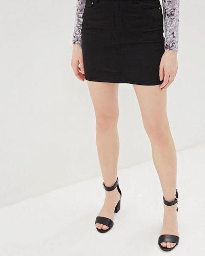 Джинсовая юбка черная G&g