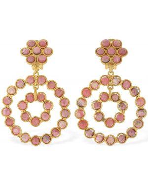 Różowe złote kolczyki ze złota Sylvia Toledano