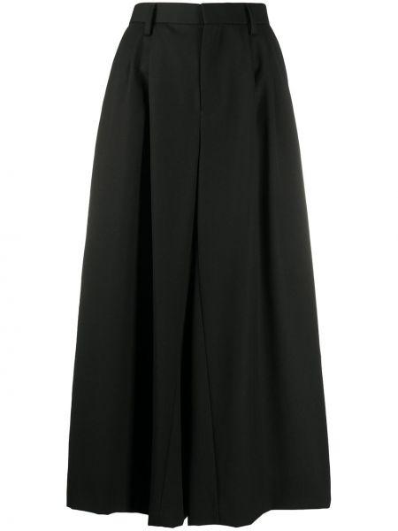 Черные укороченные брюки свободного кроя с поясом с высокой посадкой Comme Des Garçons Noir Kei Ninomiya