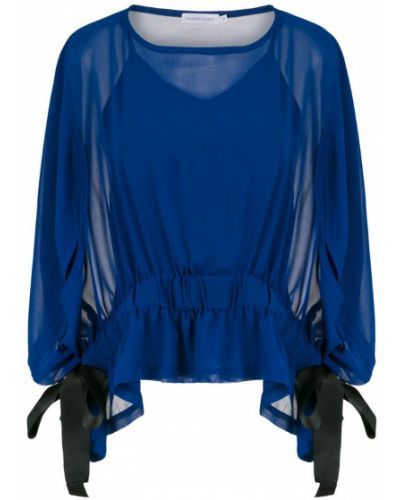 Блузка прозрачная - синяя Mara Mac