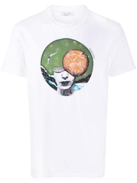 Koszula krótkie z krótkim rękawem prosto z nadrukiem Valentino