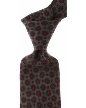 Czerwony krawat z jedwabiu Borrelli