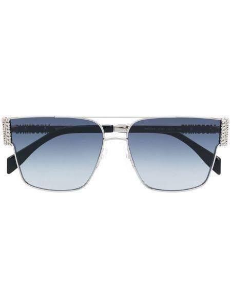 Прямые черные солнцезащитные очки квадратные металлические Moschino Eyewear