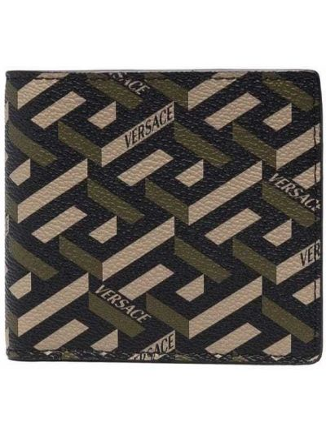 Czarny portfel Versace
