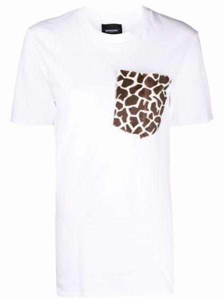 Белая футболка с принтом Simonetta Ravizza
