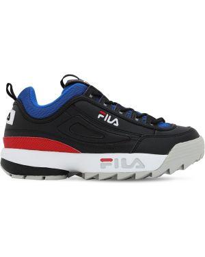Sneakersy na platformie skorzane sznurowane Fila Urban