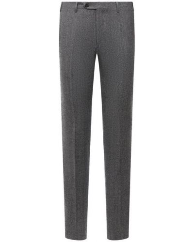 Серые брюки из вискозы Corneliani