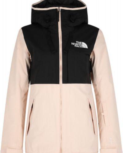 Прямая черная утепленная куртка горнолыжная The North Face