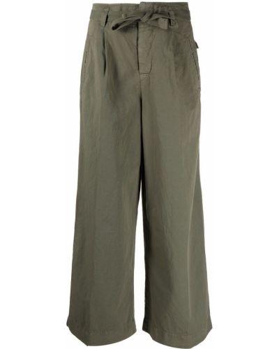 Зеленые с завышенной талией брюки свободного кроя Incotex