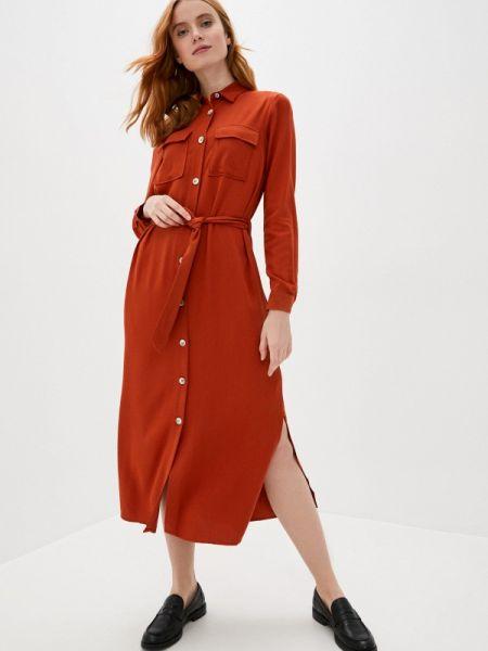 Оранжевое платье Defacto