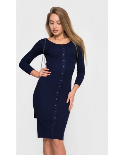 Платье осеннее синее Sk House
