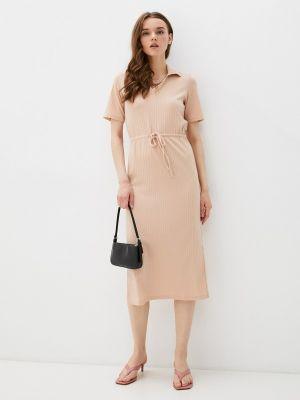 Бежевое платье-футляр Defacto