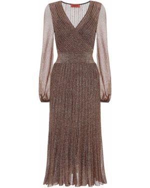 Платье миди с завышенной талией вязаное Missoni