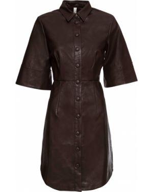 Платье мини кожаное из искусственной кожи Bonprix