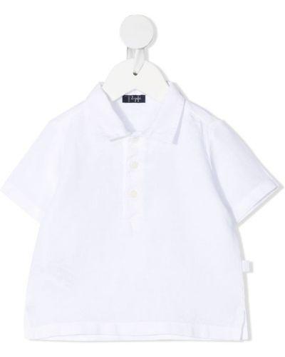 Льняная белая рубашка с короткими рукавами Il Gufo