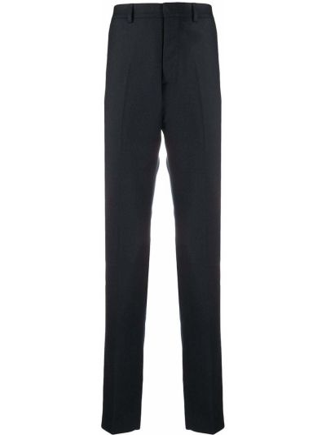 Beżowe spodnie z wysokim stanem wełniane Ami