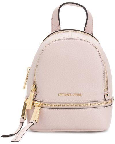 Кожаный рюкзак на шнуровке с логотипом Michael Michael Kors