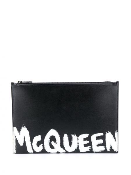 Skórzany torba z kieszeniami Alexander Mcqueen