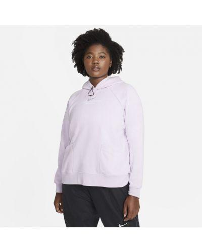 Fioletowa bluza dresowa z kapturem z raglanowymi rękawami Nike