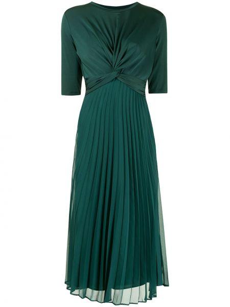 Платье миди с драпировкой с короткими рукавами из вискозы Armani Exchange