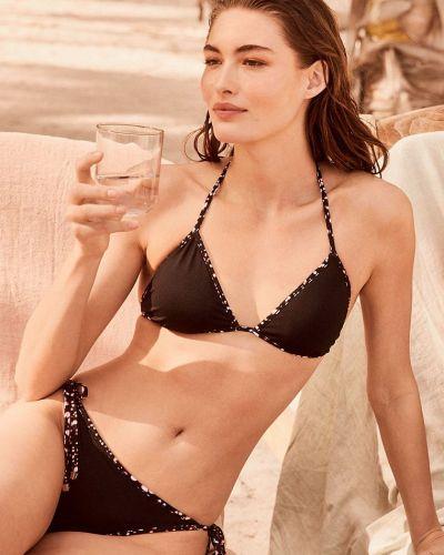 Черный купальник раздельный с чашками двусторонний Victoria's Secret