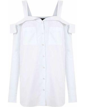 Блузка с длинным рукавом белая прямая Andrea Bogosian