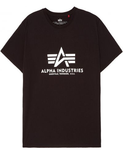 Футболка свободная с логотипом Alpha Industries