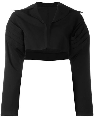 Черная короткая куртка Yohji Yamamoto