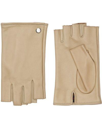 Rękawiczki bez palców - beżowe Mario Portolano