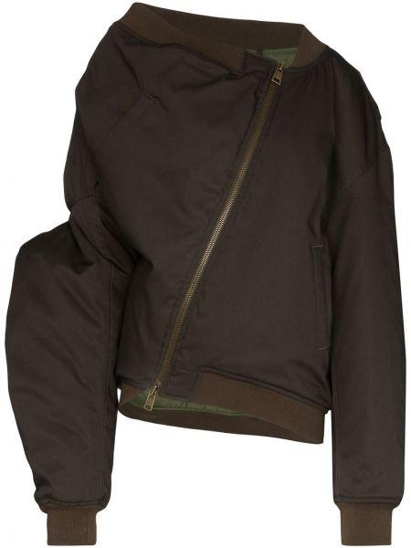 Зеленая куртка на молнии с карманами Y/project