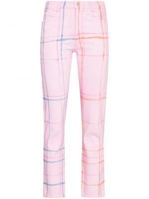 Mom jeans z paskiem - różowe Collina Strada