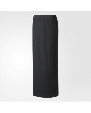 Юбка макси спортивная черная Adidas