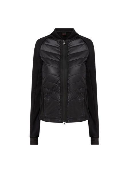 Czarna długa kurtka pikowana z długimi rękawami Bogner Fire + Ice