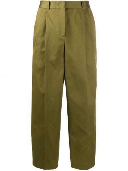 Хлопковые зеленые брюки Odeeh
