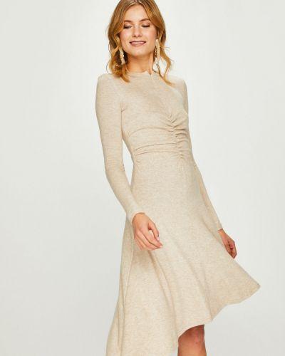 Платье миди с длинными рукавами со складками Answear
