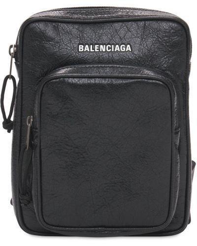 Czarna torebka crossbody skórzana Balenciaga