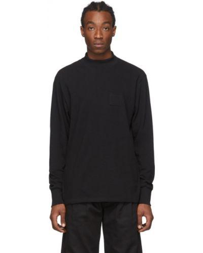 Czarny t-shirt z długimi rękawami bawełniany Aime Leon Dore