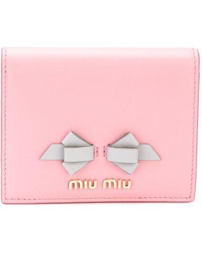 Кожаный кошелек с бантом для монет Miu Miu